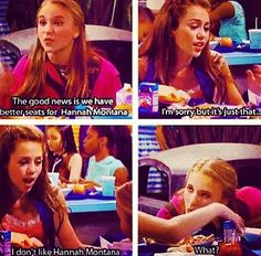 The first episode of Hannah Montana