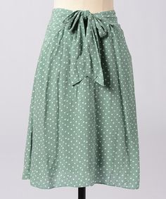Take a look at this Polka Dot On Site Skirt by Down East Basics Women on #zulily..so love this!