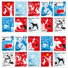 """Tord Boontje's festive stamps feature """"small stories"""" of animals and people"""
