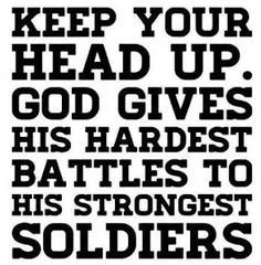"I don't think I deserve that label of ""strongest soldier"" from him...   but this is so hard!"