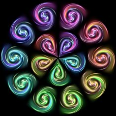 Colored Swirls by Humble-Novice