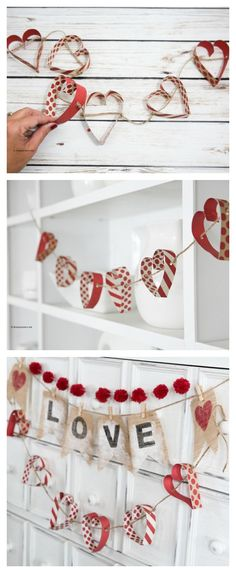 Today I am sharing a very simple but cute Paper Heart Garland that is a fun addition to your Valentine& Day Decor. You could also make one to decorate your little girl& room or to add some fun to a bridal shower or as some wedding decor. Valentines Decoration, Valentines Day Party, Valentine Day Crafts, Be My Valentine, Holiday Crafts, Valentines Hearts, Valentines Day Decor Classroom, Valentine Banner, Easter Crafts