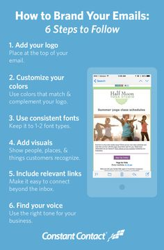 6 Ways to Brand your Emails #Infographics