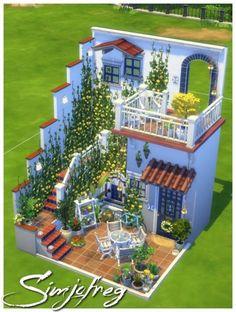 Sims 4 House Plans, Sims 4 House Building, Dream House Plans, House Plans With Pictures, Sims 4 House Design, Casas The Sims 4, Sims Four, Sims 4 Build, House Blueprints