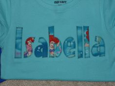 Personalized ARIEL from The LiTTLe MeRMaiD Name Custom Boutique T SHIRT Tee Applique by EnchantedStitches528 on Etsy