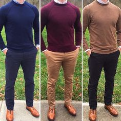 "11.7k Likes, 94 Comments - MEN'S FASHION & STYLE (@mensfashions) on Instagram: ""See more at 👉 @bestofmenstyle 1, 2 or 3? From left to right! Courtesy of @chrismehan…"""