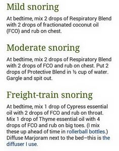 Essential oils for snoring. doTERRA oil blends