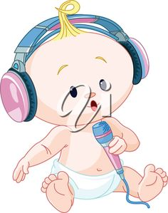Illustration of cute DJ baby
