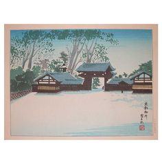 1stdibs   Winter at Honganji Temple
