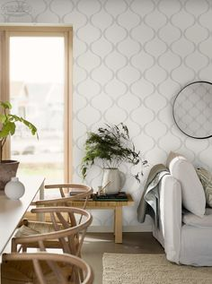 Tapeta koniczyna marokańska ECO WALLPAPER kolekcja WHITE & LIGH Wallpaper, Wallpapers