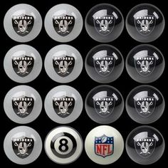 Oakland Raiders Billiard Ball Set