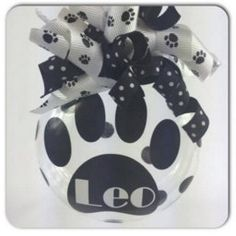 Personalized Paw Print Christmas Ornament by SparklesandSpice11 on Etsy