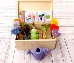 #FeltGarden Fabric #VegetableGarden Play Set Toy #MiniGarden #PretendFood
