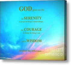 SALES ENDS TODAY 6/7/15 at 5:00 Limited Time Promotion: Serenity Prayer Stretched Canvas Print