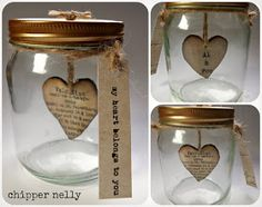 Unfortunatly NOT for block making...but this week I've been inspired by glass jars and hanging hearts!  All av...