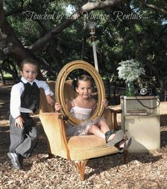 """""""Touched by Time Vintage Rentals"""" ~Family Photo's with vintage props"""