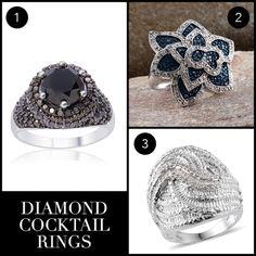 April Birthstone: Diamond   Diamond Cocktail Rings