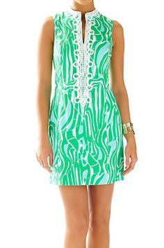 Lilly Pulitzer Alexa High Collar Shift Dress in Finders Keepers