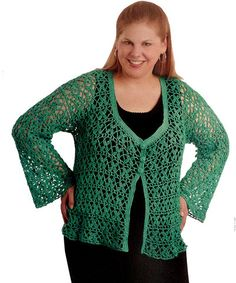 Plus-Size Cardis to Crochet is a detailed crochet pattern booklet that includes stunning cardigan patterns designed to flatter plus-size ladies. Includes five patterns. Available at www.maggiescrochet.com