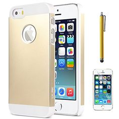 iPhone 5S Case, ULAK Case for iPhone 5 5S 5G Slim Fit Aluminum +PC Hard Cover Protective Case with Screen Protector and Stylus (Gold) ULAK http://www.amazon.com/dp/B00O0F0ECK/ref=cm_sw_r_pi_dp_nR8cvb16C7E9C