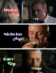 Simon Pegg's characters in the Cornetto Trilogy
