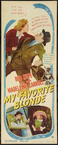 My Favorite Blonde (1942) starring Bob Hope & Madeleine Carroll
