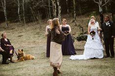 Colorado Mountain Wedding Photos | Sarah + Milo - Carrie Swails Wiccan Wedding, Carrie, Carry On, Wedding Ceremony, Colorado, Wedding Photos, Wedding Inspiration, Mountain, Celebrities