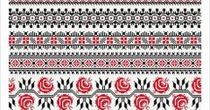 Semne Cusute: Romanian traditional motifs - MOLDOVA - Suceava, s. Folk Embroidery, Learn Embroidery, Cross Stitch Embroidery, Embroidery Patterns, Sewing Patterns, Cross Stitch Borders, Cross Stitching, Cross Stitch Patterns, Palestinian Embroidery
