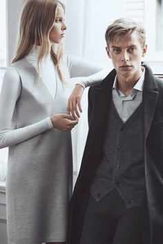 Lina Berg and Janis Ancens for Club Monaco 2015 Fall Campaign, shot by Lachlan Bailey in Tribeca.