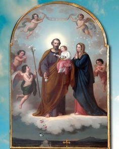 Saint Joseph print, catholic art, by Sandra Lubreto Dettori