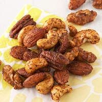 Sweet and Salty Roasted Nuts. More easy snack recipes here: http://www.diabeticlivingonline.com/diabetic-recipes/healthy-diabetic-snacks/healthy-diabetic-snack-mixes/