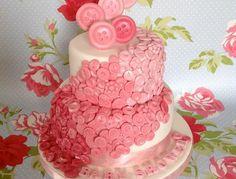 Button baby shower cake.