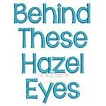 Behind These Hazel Eyes Embroidery Font