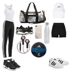 """""""⚽️"""" by brianabeckette on Polyvore featuring J.TOMSON, adidas, adidas Originals, River Island, S'well and B&O Play"""