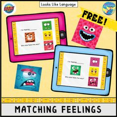 Feeling overwhelmed or a little stressed about becoming a distance teaching SLP? Then check out this list of free speech therapy digital materials. Social Skills Activities, Speech Therapy Activities, Interactive Activities, Language Activities, Teaching Resources, Learning Cards, Monster Face, All Themes, Cute Monsters