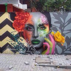 likes, 13 comments – Arte Sem Fronteiras ( … – Graffiti World Graffiti Art, Murals Street Art, Street Wall Art, Urban Street Art, Best Street Art, Amazing Street Art, Street Art Graffiti, Graffiti Painting, Street Art Artiste