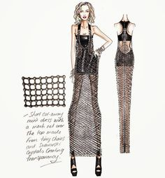 The Printed Sea: Atelier Versace sketches for Beyonce concerts