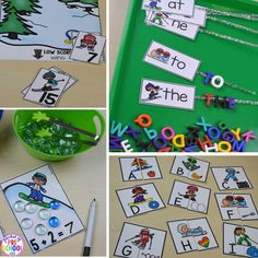 Winter Games (aka Winter Olympics) Math and Literacy Centers are loaded with Winter Games (Olympic) themed math and literacy activities and centers. For preschool, pre-k, and kindergarten. Preschool Writing, Literacy Activities, Literacy Centers, Preschool Science, Preschool Learning, Preschool Crafts, Sports Theme Classroom, Snow Theme, Winter Theme