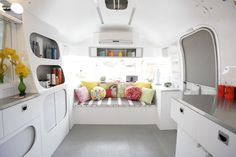 Photos - Hairstream Salon Boutique Bar, Hair Boutique, Mobile Boutique, Bus Interior, Airstream Interior, Mobile Home Living, Home And Living, Beauty Van, Mobile Hair Salon