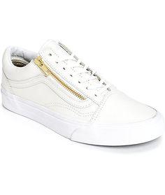 vans old skool white leather sale