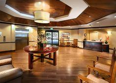 Inside the lobby of Atria Golden Creek in Irvine, California