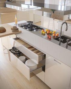 Poliform kitchen CGI on Behance