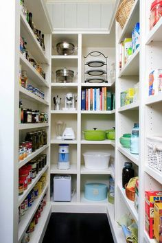 Pantry. For the small space that I have...This is an awesome idea.