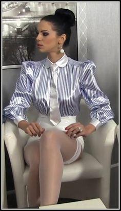 Secretary In Satin Blouse Sex