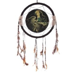 Fantasy Wolf Design Medium Dreamcatcher 33cm Wolf Song - Artist Lisa Parker Dreamcatchers are a great way to add colour and design to your home or