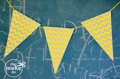 Chevron banner printables to make your own grey and yellow chevron garland!  #party #babyshower #birthday