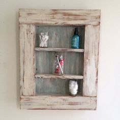 Reclaimed Wood Framed Shelves by shoponelove on Etsy