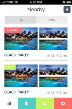 Nearby List of 'Something' for iPhone - UltraUI | UI Design & Inspiration