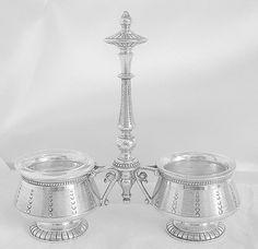 Silver plated salt en pepper set Cailar door MyVintageRoseShop