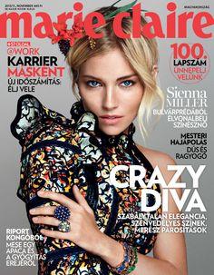 November, 2015, Sienna Miller #marieclaire #cover #siennamiller